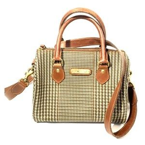 Vtg Auth. Polo RL Houndstooth Boston /Speedy  bag